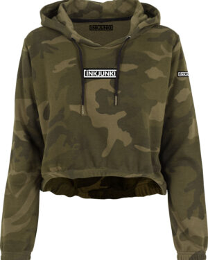 CROPPED HOODIE CAMO NEW LOGO